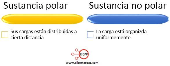 sustancia polar sustancia no polar concepto