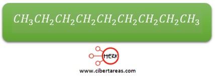 cadena de carbono y cadena de hidrogenos