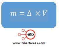 despeje de la formula de densidad quimica