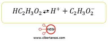 ejemplo acido debil quimica