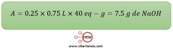 ejemplo de como determinar la normalidad de una sustancia 3