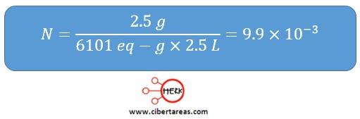 ejemplo de como determinar la normalidad de una sustancia