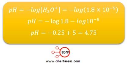 ejemplo grado de acidez o de basicidad de una solucion