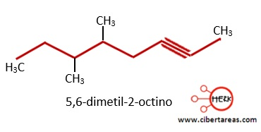 formula 5,6-dimetil-2-octino