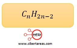 formula general alquinos