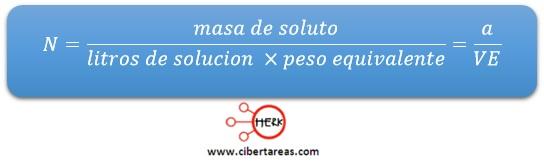 formula normalidad quimica 2