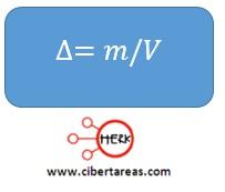 formula para calcular la densisdad quimica