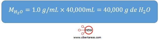 sustitucion de la formula de la masa densidad