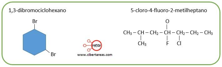 Nomenclatura de los halogenuros de alquilo ejemplo