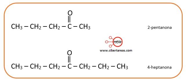 ejemplo nomenclatrua cetonas quimica