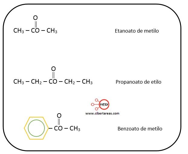 estructura de los esteres ejemplo quimica 2