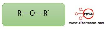 estructura de los eteres quimica