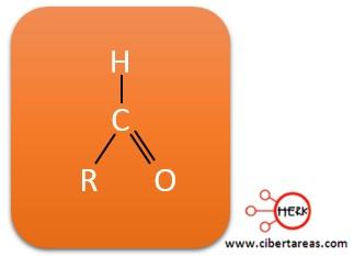 formula estructural de los aldehidos quimica