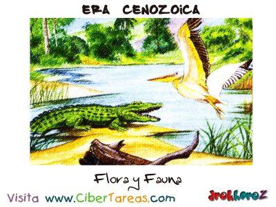 Flora y Fauna - Era Cenozoica