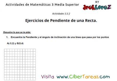 captura de ejercicios de pendiente de una recta actividades de matematicas 3 media superior