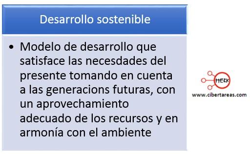 concepto desarrollo sostenible