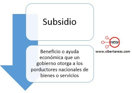subsidio mapa conceptual