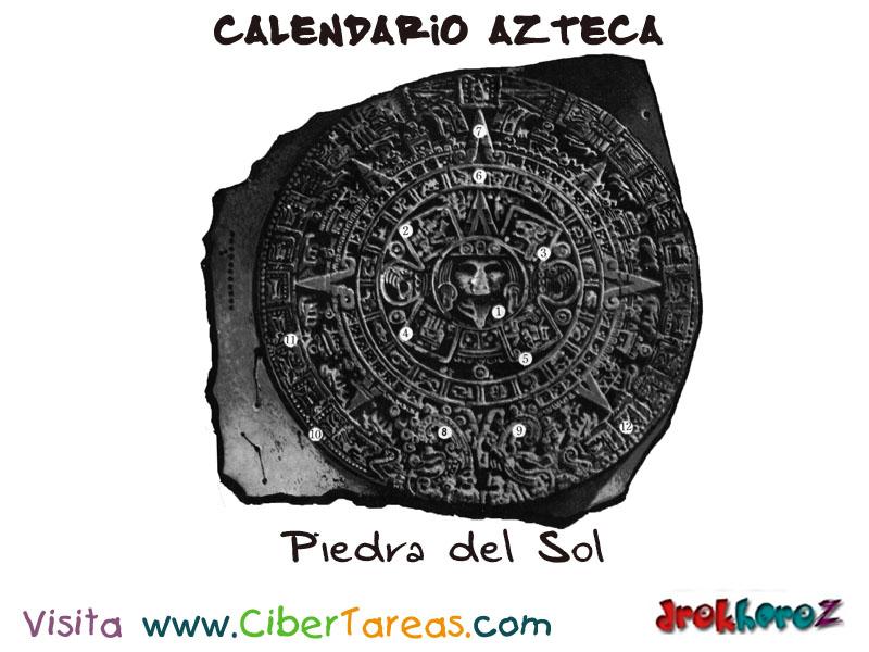 Descripci n el calendario azteca cibertareas for Del sol horario