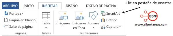 Insertar un gráfico SmartArt en Word 2013 – Resguardar la información y elaboración de documentos electrónicos 1
