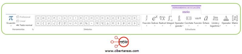 Insertar ecuaciones en Word 2013 – Resguardar la información y elaboración de documentos electrónicos 3