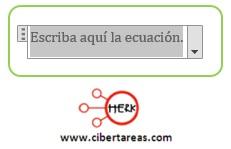 Insertar ecuaciones en Word 2013 – Resguardar la información y elaboración de documentos electrónicos 5