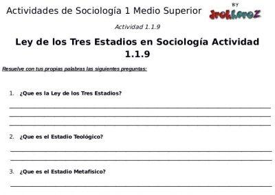 Actividades Fisiología Social y el Fisicismo – Sociología 1 2