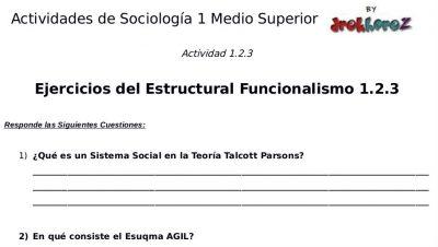 Actividades del Estructural Funcionalismo – Sociología 1 3