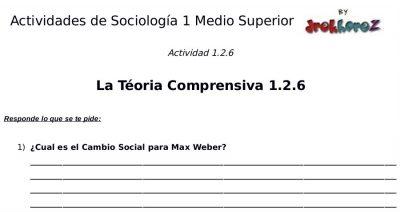 Actividades de la Teoría Comprensiva  – Sociología 1 1