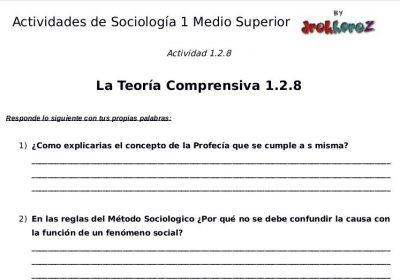 Actividades de la Teoría Comprensiva  – Sociología 1 3