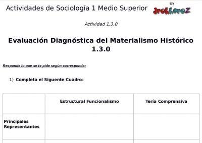 Actividades del Materialismo Histórico  – Sociología 1 0