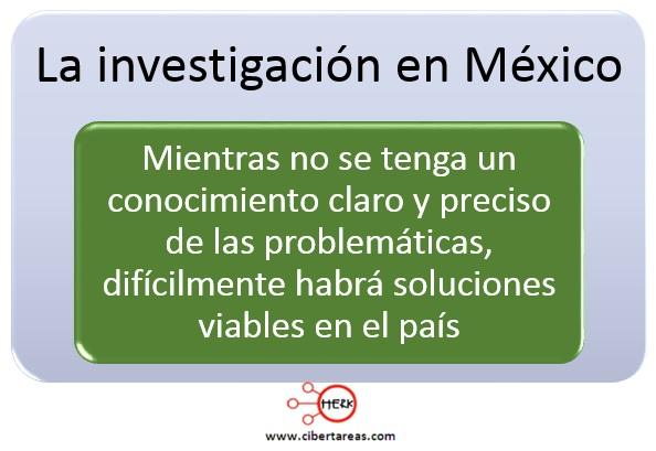 La investigación en México – Metodología de la Investigación 2
