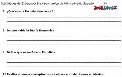Actividades de la Economía Mexicana – Estructura Socioeconómica de México 1 1