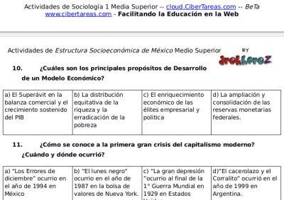 Actividades del Nuevo Modelo de Desarrollo – Estructura Socioeconómica de México 1 0