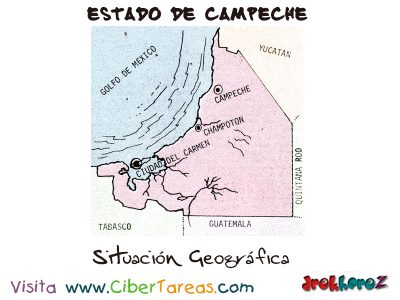 Situación Geográfica – Estado de Campeche 0