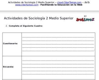 Actividades de las Principales Metodologías en Sociología primera parte- Sociología 2 2