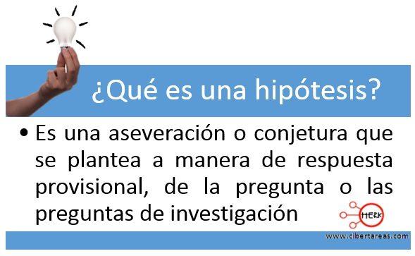 Hipótesis de la investigación – Metodología de la Investigación 0