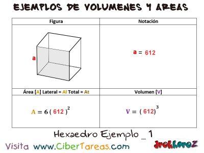 Hexaedro – Ejemplos de Volúmenes y Áreas 0