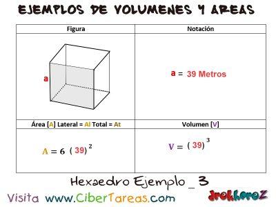Hexaedro – Ejemplos de Volúmenes y Áreas 2