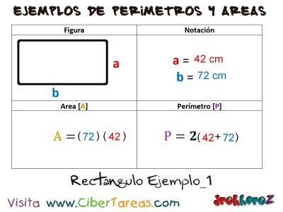 Rectángulo – Ejemplos de Áreas y Perímetros 0