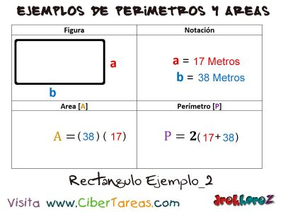Rectángulo – Ejemplos de Áreas y Perímetros 1
