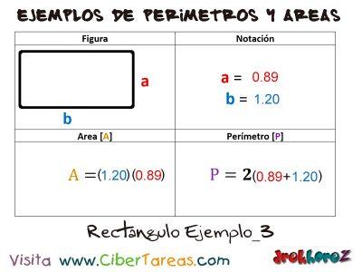 Rectángulo – Ejemplos de Áreas y Perímetros 2