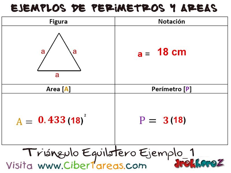 Triángulo Equilátero – Ejemplos de Áreas y Perímetros | CiberTareas