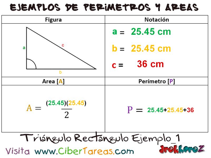 formulario del triangulo rectangulo   CiberTareas