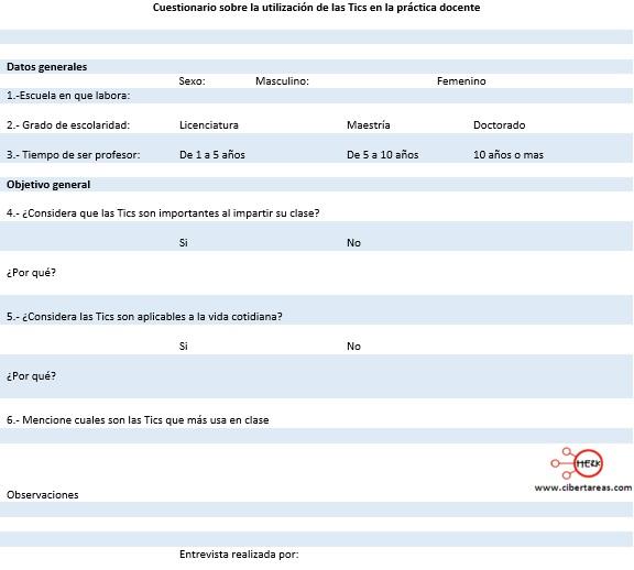 Técnicas de investigación, cuestionario – Metodología de la investigación 0