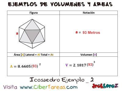 Icosaedro – Ejemplos de Volúmenes y Áreas 1