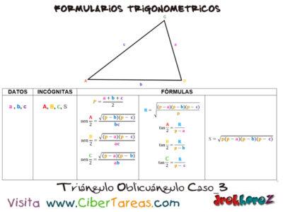Formulario Trigonométrico – Resolución de Triángulos Oblicuángulos 3