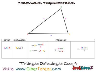 Formulario Trigonométrico – Resolución de Triángulos Oblicuángulos 4