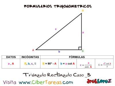 Formulario Trigonométrico – Resolución de Triángulos Rectángulos 3