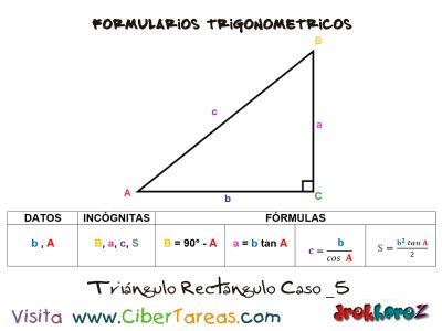 Formulario Trigonométrico – Resolución de Triángulos Rectángulos 5