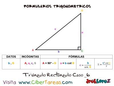 Formulario Trigonométrico – Resolución de Triángulos Rectángulos 6